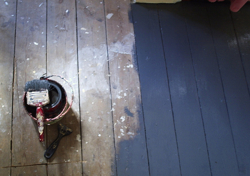 how to paint wood floors - Paint For Wooden Floor