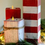 wooden candle holders christmas decoration