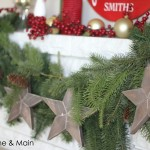 wooden start decorations for christmas